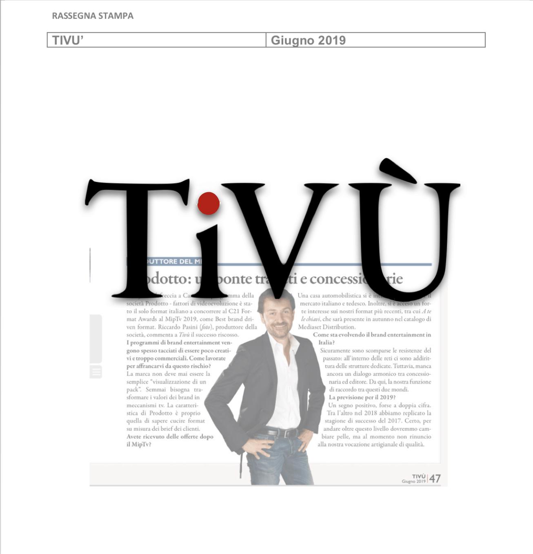 TIVU': Prodotto, un ponte tra reti e concessionarie