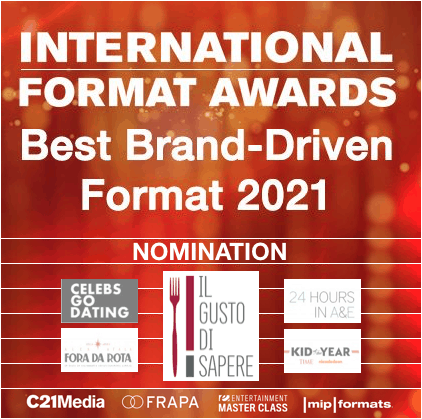 PRODOTTO IN NOMINATION A THE INTERNATIONAL FORMAT AWARDS 2021